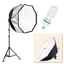 "24""/61cm Octagonal Umbrella Softbox Light Stand Kit for Speedlite / Studio Flash"