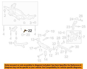 FORD OEM 08-09 Taurus X Rear Suspension-Upper Control Arm Rear Bolt W710024S439