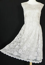 Melissa Masse Made to measure dress Lace Open Back Boat neck Mid-Calf Size 6