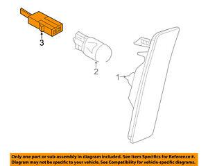 VW VOLKSWAGEN OEM 12-18 Beetle Side Marker Lamps-Front-Socket 1Q0971275C