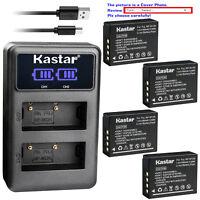 Kastar Battery Dual LCD Charger for Fujifilm NP-W126 BC-W126 & Fujifilm X-T3
