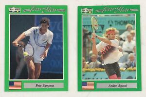 1991 NetPro (Net Pro) Andre Agassi #3 Rookie & Pete Sampras #7 Rookie -RARE PAIR