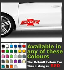 CHEVROLET Logo Side Premium Decals/Stickers x 2