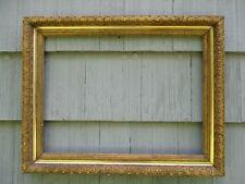 NICE Large Antique Gilt Gesso Wood Picture Frame Original Gilt Finish fits 27x20