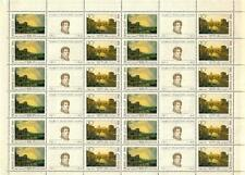 Russia 1991 Sc#5960-63(a) Russian Paintings 2 Sheets Mnh