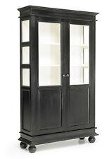 NINA, Vitrine schwarz-weiß Landhausstil, Vitrinenschrank Landhaus Matz-Möbel