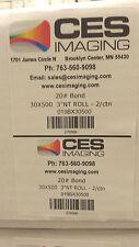 "2 Rolls 30""x500' Bond Plotter Paper Canon IPF 750 755 760 765 Inkjet 3"" core"