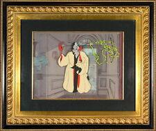 Disney Cruella DeVil 101 Dalmations Cel Villains Portfolio Rare Animation Cell