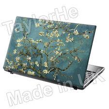 Laptop piel cubierta de adhesivo de etiqueta de almendros en flor, 313