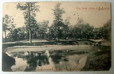 LIMA OHIO 1907 POSTCARD LAKE IN  CITY PARK #2vva2
