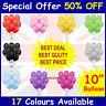 "100 Metallic BALONS BALLONS helium BALLOONS Quality Birthday Wedding 10"""