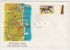 Stamp Australia 20c horse race on Sunshine Coast Queensland 1978 tourist cover