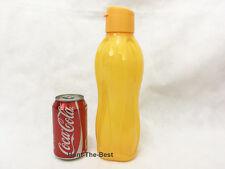 Neu TUPPERWARE Eco Easy Ecoeasy Trinkflasche Flasche 1L Flip oben Kappe Gelb