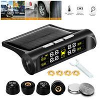 Wireless Solar TPMS LCD Car Tire Pressure Monitoring System + 4 External Sensors