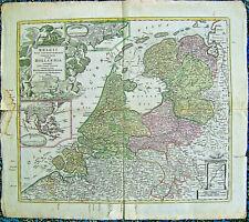 JOHANN BAPTIST HOMANN  BELGII PARS SEPTENRIONALIS COMMUNI NOMINE VULGO HOLLANDIA