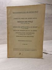 """Peus 255 (1956) Sammlung Alfred Noß, Teil I.  Münzen der Pfalz """"Kurlinie ua."""