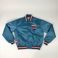 VTG NBA Sacramento Kings Powder Blue New Haven Starter Satin Jacket Adult Large