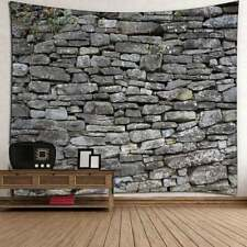 Stone Tapestry Wall Hanging Retro Colorful Striped Texture Brick Wall Tapestries