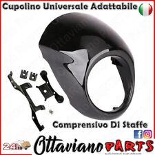 ParaVento Cupolino Carena Moto per Cafe Racer Scrambler Naked Nero Lucido M63