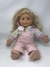 """Vintage Playschool Hasbro """"Kid Sister""""; Blonde Hair, Dimples, Blue Sleep Eyes"""
