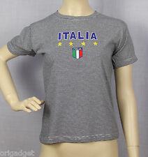 CAMISETA BORDADA ITALIA 100 % ALGODÓN camiseta ITALIA MIL RAYAS 10anni