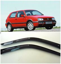For VW Golf 3 III 3d 1991-1997 Side Window Visors Sun Rain Guard Vent Deflectors