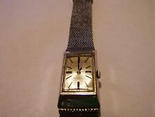 VINTAGE TIMEX ELECTRA 10K GOLD ROLLED PLATE WATCH WITH MIRA-FLEX GF BAND