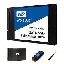 "WD 2TB SSD Upgrade Kit by Fantom Drives 2.5"" HHD Enclosure Drive Cloner Software"