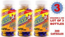 3X Stacker 2 100 Capsules/Bottle Stacker2 3 Energy Weight Loss 08/20 (Lot of 3)