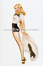 Pin Up Girl Poster 11x17 Varga Alberto Vargas calendar  blonde hat
