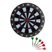 HOMCOM Professional Dartboard Set With 6 Darts Full Size Tournament Dart Board