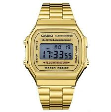 Casio Digital Alarm Quartz Calendar Stainless Steel Unisex Classic Watch -168WA