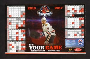 Rockford IceHogs--2016-17 Magnet Schedule--Blackhawks Affiliate