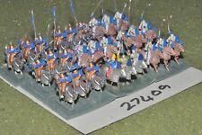 15mm medieval / byzantine - mixed part painted 22 figures - cav (27409)