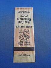 THE ARK RESTAURANT MATCHBOOK FAMOUS FOR CATFISH & HUSH PUPPIES RIVERSIDE ALABAMA