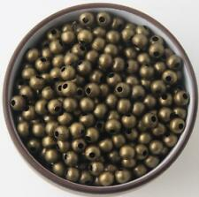 SILVER PLATED Bronze Gold Metal Round Ball SPACER BEADS 2.4mm 3.2mm 4mm 6mm 8mm