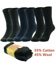 3 Pairs Men Heavy Duty Winter Thermal Work Boots Wool Cotton Crew Socks 9-13