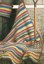 Crochet Pattern ~ COUNTRY AFGHAN & PILLOW ~ Instructions