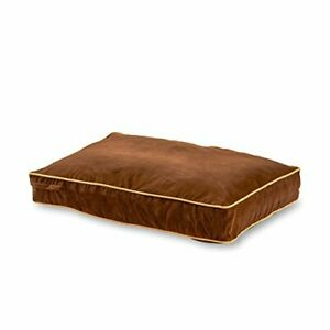 Happy Hounds Buster Small 36 x 24 in. Chocolate Rectangle Pillow Style Dog Bed