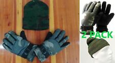 Anti-Skid Winter Gloves Camo Hunting Gloves / Beanie Hat / Cap Combo M L XL