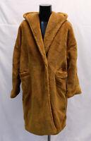 Boohoo Women's Petite Oversized Hooded Teddy Coat LP7 Camel Size US:10 UK:14 NWT
