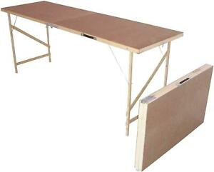 Wooden Hardboard Folding Portable Wallpaper Wall Decorating Paste Pasting Table