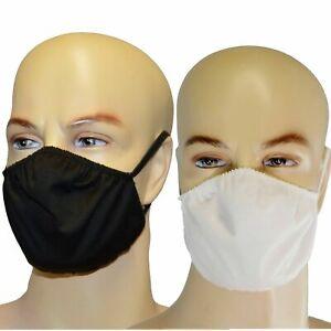 Stoffmaske uni weiß schwarz Mundbedeckung waschbar Maske Wiederverwendbar mehrwe