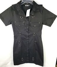 Bat Attack Women's/Juniors Dress Black Size Medium Fashion From The Crypt
