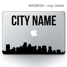 Custom city name Macbook Stickers on vinyl | Laptop sticker | City Decals
