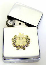 THE ESSEX REGIMENT BADGED WINDPROOF CHROME PLATED LIGHTER