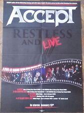 ACCEPT Restless Live POSTER ! UDO/Scorpions/Judas Priest/Iron Maiden/Doro/Krokus