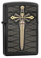 Zippo 28799, Sword, Gold Dagger, Black Ebony Finish Lighter, Full Size