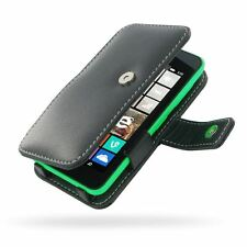 Pdair Leather Book Type Case Carry Cover for Nokia Lumia 530 - Black