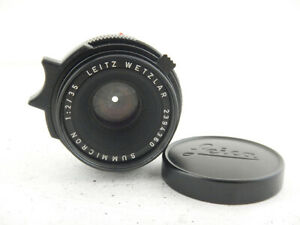 Leica Summicron-M 35mm f2 Black Lens Made in Germany M6 M5 Excellent